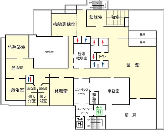 2階デイサービスフロアマップ
