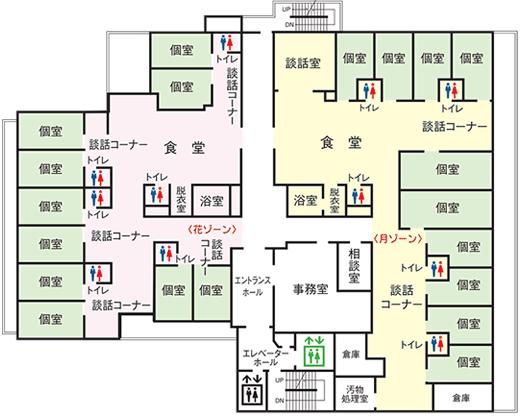 3階ショートステイフロアマップ