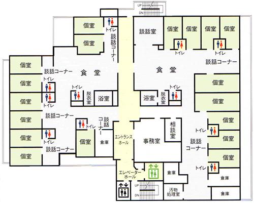 4階グループホームフロアマップ